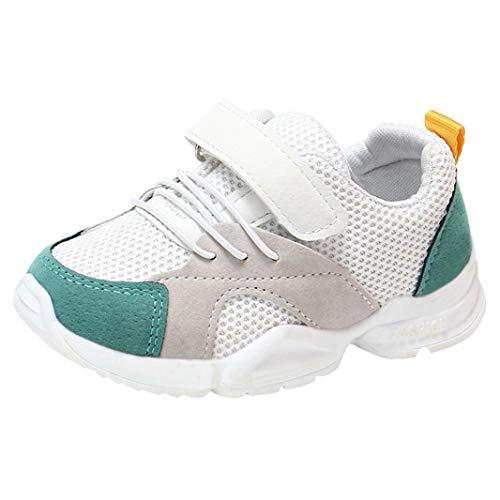 Zapatillas Unisex Niños,ZARLLE Casual Velcro Zapatillas Niño Zapatillas De Malla para Bebés Zapatos De Bebé Zapatillas De Deporte Sneakers Transpirables Antideslizante Zapatos