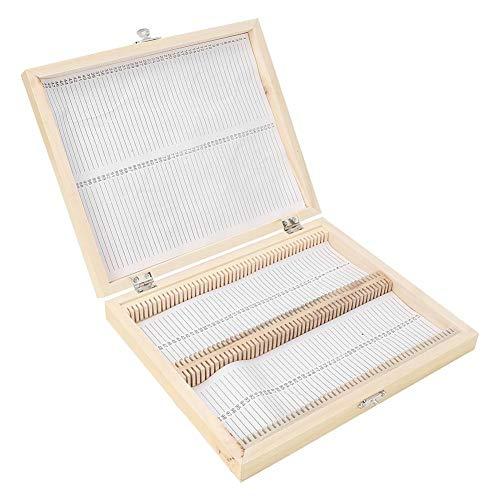 Caja para vitrinas para microscopio, caja para escaparates, juego de vitrinas preparadas...