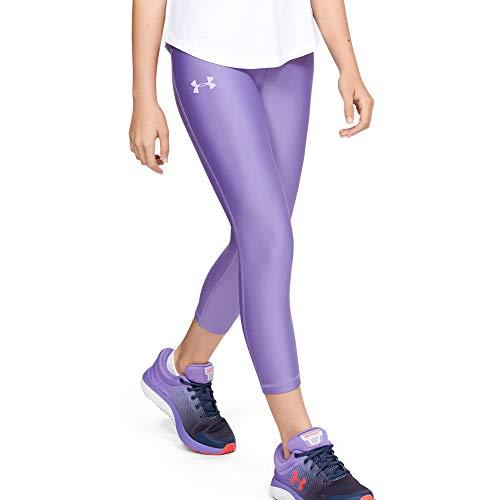 Under Armour Mädchen Capri Armour HeatGear Ankle Crop, Violett, YSM, 1327855-589