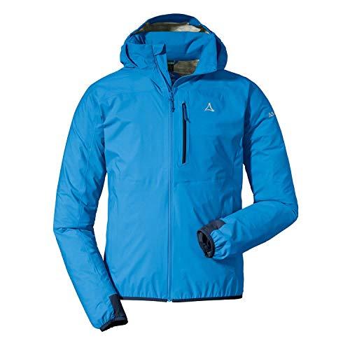 Schöffel Herren Jacket Toronto4 Wind-und wasserdichte Jacke Kapuze, atmungsaktive und verstaubare Hardshelljacke für Männer, Directoire Blue, 52