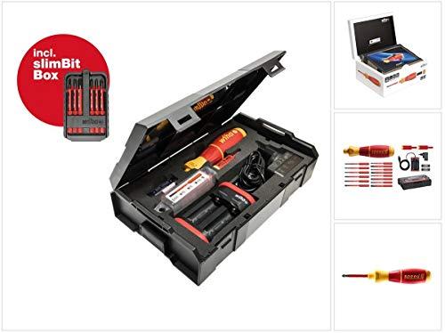 Wiha speedE® Set 2 elektrische schroevendraaiers + 2x accu 1,5 Ah + oplader + SlimBit Box + L-Boxx (590T102J)