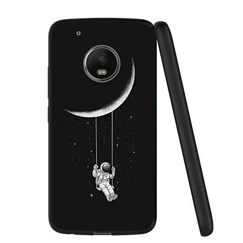 Yoedge Cover Motorola Moto G5 Plus, Sottile Antiurto Custodia Nero Silicone TPU con Disegni Pattern Ultra Slim 360 Protective Bumper Case per Apple Motorola...