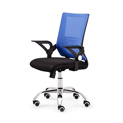 Computerstühle, Hotel Rezeption Kassierstuhl Besprechungsraum Empfangsstühle Adult Mesh Chair 46.5 * 48 * 92-102CM Gaming Stuhl(Color:Blau)