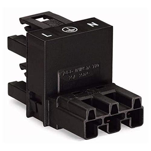 Wago 770-636 Winsta Verteiler 1 auf 2 schwarz Netzverteiler Buchse Stecker