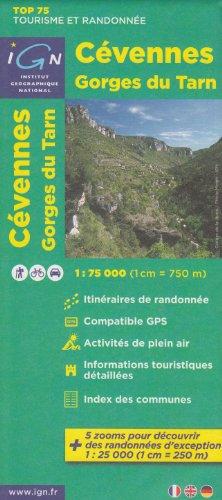 IGN TOP 75 Cevennen Gorges du Tarn, 1:75 000/1: 25 000, topographische Wanderkarte, (Rhone-Alpes, Frankreich) IGN