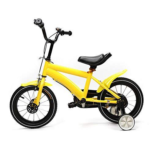 Wangkangyi - Bicicleta infantil con ruedas de apoyo de 14 pulgadas, con...