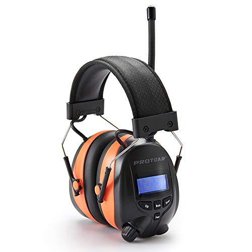 Gehörschutz mit Radio DAB + / FM und Bluetooth, Freisprechen, Hörgerät für Werkstatt, Garten / Mähen, CE-zertifiziertes SNR 30 dB