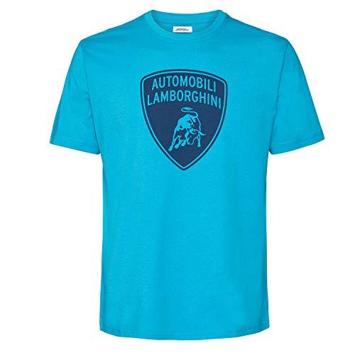 Automobili Lamborghini Herren-T-Shirt, Marineblau Gr. L, blau