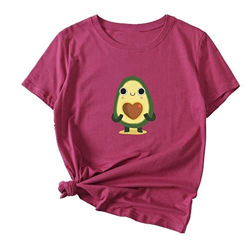 NOBRAND - Camiseta de manga corta para mujer, diseño de aguacate