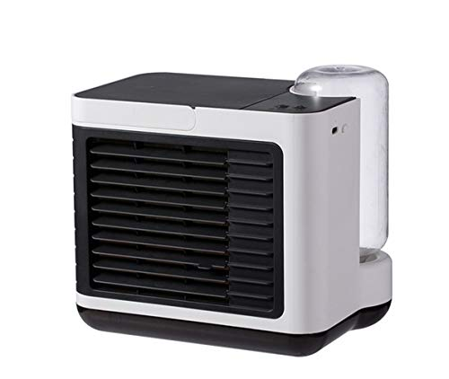 LG Snow Acondicionador De Aire Portátil, Personal De Aire Acondicionado con Función De Humidificador, El Modo Silencioso Ventilador De 3 Velocidades, USB por Evaporación Aire Más Frío