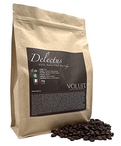 VOLUIT DELECTUS – Kaffeebohnen, Exklusive Auswahl von Peru | Kaffeespezialität | Premium Bohnenkaffee 100% Arabica | Handwerkliche Röstung - 1KG | Kaffeebohnen Natur Gebraten - 1KG
