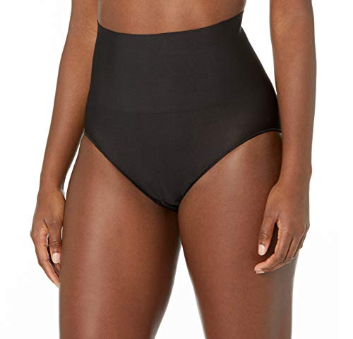 Maidenform womens Tame Your Tummy Shaping Lace With Cool Comfort Dm0051 Shapewear Briefs, Black, Large US
