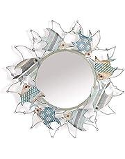Wandspiegel voor badkamercreativiteit Vismodellering Foyer Decoratieve spiegel Iron Art Mediterrane stijl