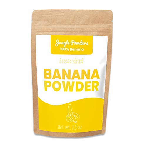 Jungle Powders Freeze Dried Banana Powder - 3.5oz 100% Natural Powdered Banana Extract - Single Ingredient Banana Food Flavoring - No Sugar Added Gluten Free Superfood Baking Powder