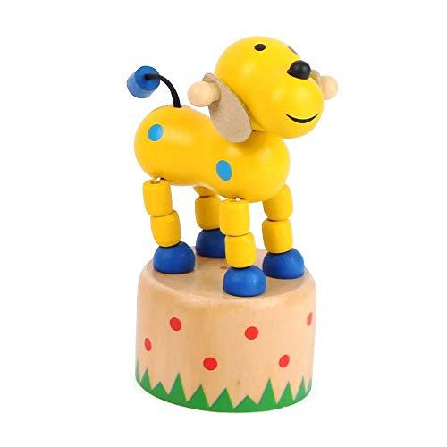 Small Foot 11157 Drückfigur Hund aus Holz, FSC 100%-Zertifiziert, Mitgebsel Spielzeug, Mehrfarbig