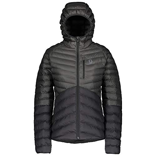 Scott W Insuloft 3M Jacket Colorblock-Grau-Schwarz, Damen Daunen Jacke, Größe S - Farbe Dark Grey Melange - Black