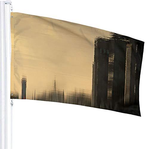 N/A Reflectie Laagraven Utrecht Vlag Premium Polyester Decoratie Vlag 5ft x 3ft