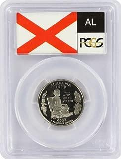 2003 Alabama State S Clad Proof Quarter PR-69 PCGS