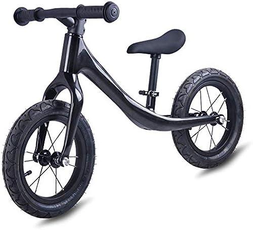 12  Kinder Laufrad ab 2-6 Jahr für Jungen, Balance Lauflernrad mit leichtem 2.6 kg Magnesium Aluminium Rahmen, Luftreifen und mitwachsendem Sitz und Lenker, Schwarz