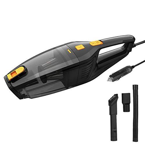 YLJYJ Aspirador Auto con Cable, DC 12v 120w Aspirador Automático Portátil De Secado En Húmedo para Automóviles con Cable De 14.8 Pies, Filtro Hepa De Acero Inoxidable