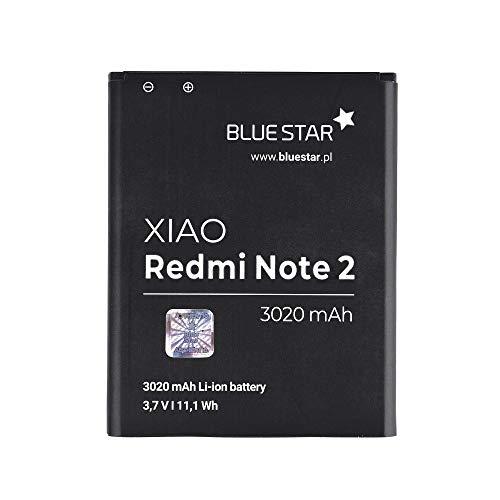 Blue Star Premium - Batería de Li-Ion litio 3020 mAh de Capacidad Carga Rapida 2.0 Compatible con el Xiaomi Redmi Note 2 / Note 2 Prime