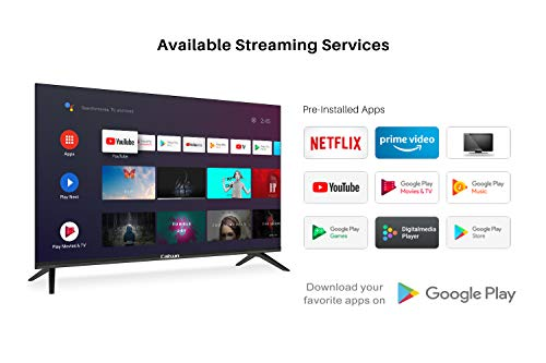Caixun Android9.0 smart TV EC43S1A with Google Assistant and Google Play Store, 43 Pollici, Ultra HD 4K Televisori, HDR 10, Tuner Triplo(DVB-T2/T/C/S2/S), WiFi, [Classe di efficienza energetica A+]
