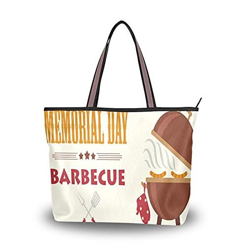 NaiiaN Leichter Gurt Barbecue Grill Party Blue Lattice Pattern Einkaufstasche für Mutter Frauen Mädchen Damen Student Geldbörse Shopping Handtaschen Umhängetaschen