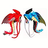 LHAHGLY 2Pcs Pokemon Red Blue Gyarados Mega Stuffed Plush Toy Dolls 60Cm,Cute Magikarp Evolution Gyarados Doll Toy Kids Plush Toy