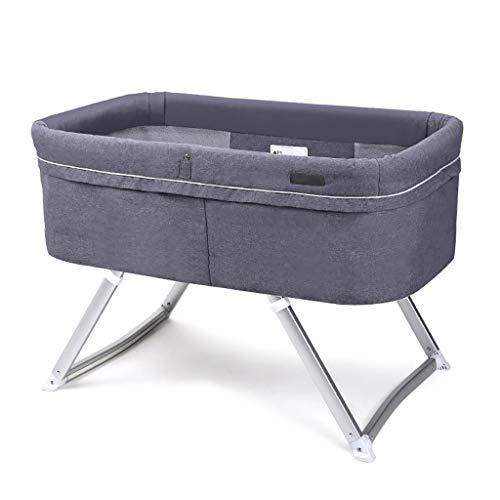 Cradle Bed Cuna De Viaje 2 En 1 Ligero Cuna De Viaje Altura Ajustable Malla Lateral PortáTil De Viaje Plegable Cuna con Mosquiteras para Bebé ReciéN Nacido