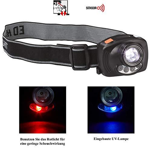 Balzer KOPFLAMPE mit Sensor EIN-/ Ausschaltfunktion Wahlweise Weiß-, Rot- oder UV-Licht