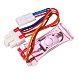 uxcell Refrigerator Defrost Thermostat, -5℃ Freezer Temperature Controller with Fuse, 3 Wire Lead N.O