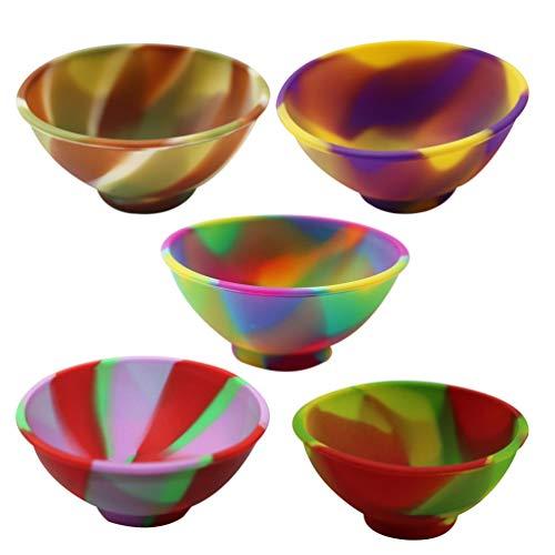 UPKOCH 14 Piezas Mini Pizca de Silicona tazones Multicolor bebé alimentación tazón arroz condimento Servir Platos Plato para condimentos Salsa merienda Manualidades DIY