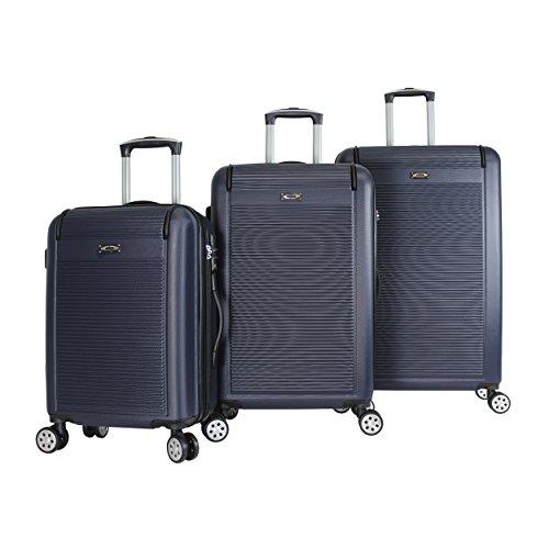 Kemyer 3-Piece Hardside TSA Lock Lightweight Spinner Rolling Luggage Set, Navy
