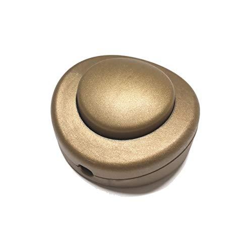 Interruptor para usar con el pie color dorado para lámparas - Accesorios para lámparas