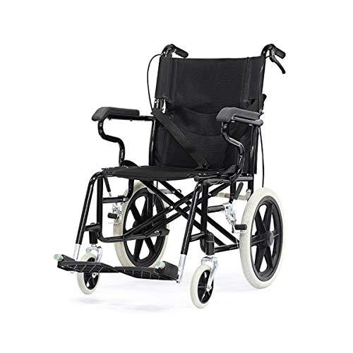 GJJSZ Tragbare Wheelchair, tragbar, zusammenklappbar, ultraleicht, Reise, für ältere Reise, Handsessel, Behinderten-Sessel, Hand Push Scooter
