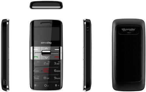 simvalley MOBILE Komfort-Mobiltelefon Easy-5 PLUS silber, Garantruf