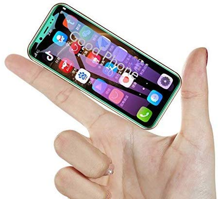 JJA BROS Melrose 2019 End Desbloqueado 2000mAh 4G LTE 8.1 Android Playstore Rugged Hammer Face Unlock Mini Smartphone Negro (8 GB)