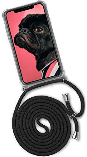 Preisvergleich Produktbild ONEFLOW Handykette kompatibel mit iPhone 11 Pro - Handyhülle mit Band zum Umhängen Case Abnehmbar Smartphone Necklace - Hülle mit Kette,  Schwarz