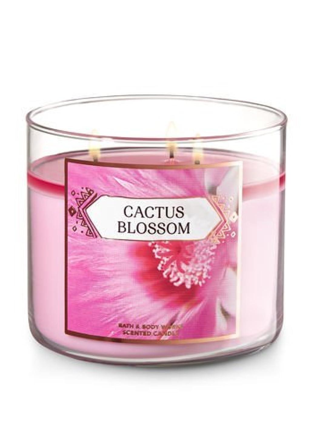 求人羽宴会Bath and Body Works 3-wick Scented Candle Cactus Blossom 14.5オンス