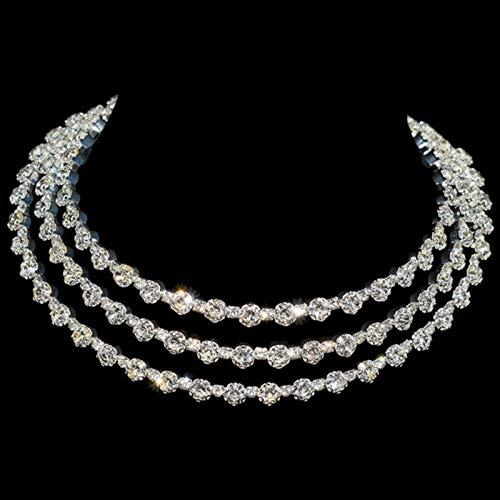 Fashion Jewelry Accessories Luxury Rhinestone Red Choker Necklace for Women Temperament Gift