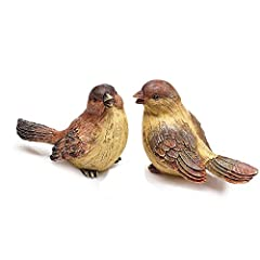 """Decorative bird figurine set includes 2 assorted designs Made of intricately cast and painted resin in warm Fall colors Each bird measures approximately 4.75""""H x 6""""L x 3.5""""D Display on the mantel or as part of a table centerpiece Versatile look and d..."""