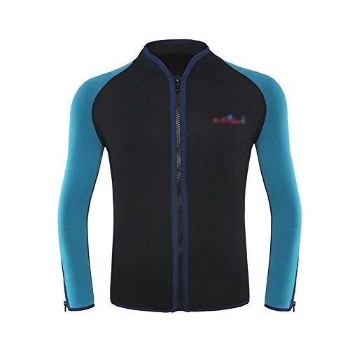 Ouzhoub Robuster Neoprenanzug, Erwachsene 2 mm Tauch Jacke Schnorcheln Anzug surfen Kleidung Canyoning warme (Color : Black, Size : XXL)