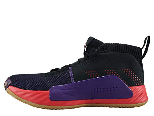 adidas Performance Dame 5 CBC Basketballschuh Herren schwarz/rot, 49 1/3 EU - 13.5 UK - 14 US