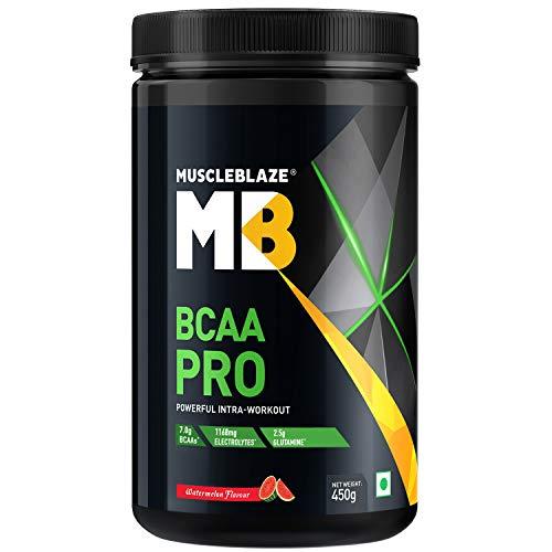 MuscleBlaze BCAA Pro Amino Acid Powder (Watermelon, 450 g)