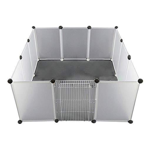 通販のトココ 犬 猫 ペットフェンス 12枚セット ケージ パーテション 透明 ペットサークル 侵入防止 コンパクト 区切り 柵