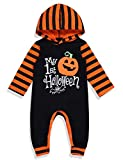 Halloween Baby Boy Girl Outfit My First Halloween Pumpkin Hoodie Romper Bodysuit One-Piece Jumpsuit, Orange...