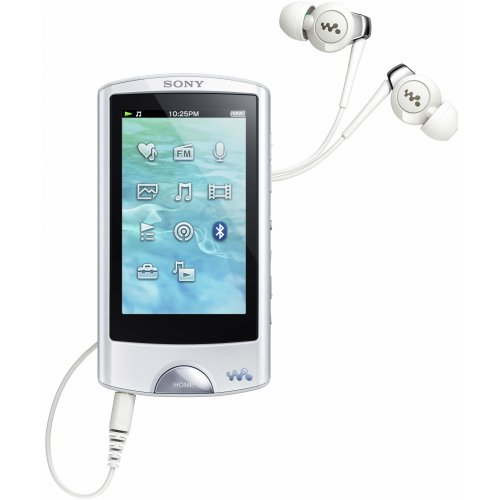 Sony Walkman NWZ-A864W Walkman MP3-/Video-Player (8GB, 7,1 cm (2,8 Zoll) Touchscreen, USB, Bluetooth, FM-Tuner) weiß