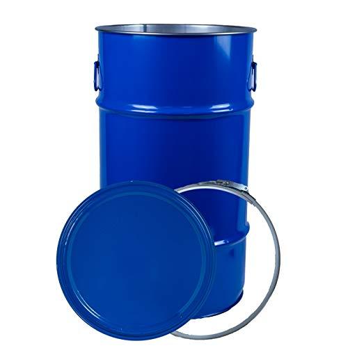 Deckelfass/zylindrisch 60 Liter Fass Blau