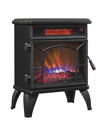 Duraflame DFI-550-0 Mason Freestanding Infrared Quartz Fireplace Stove, Black