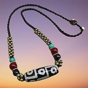 NMKAS Natürlicher Achat-Halskettenschmuck, Amulette, die die traditionelle chinesische Kultur symbolisieren, für Sicherheit und Gesundheit beten, für jeden geeignet